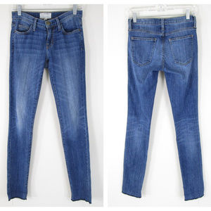 Current/Elliot The Rolled Skinny Ankle Jeans Raw